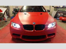 BMW E93 M3 Matt Blood Red Wrap 360 YouTube