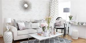 Wohnzimmer Landhausstil Weiß : wohnzimmer look in rosa wei silber instashop ~ Frokenaadalensverden.com Haus und Dekorationen