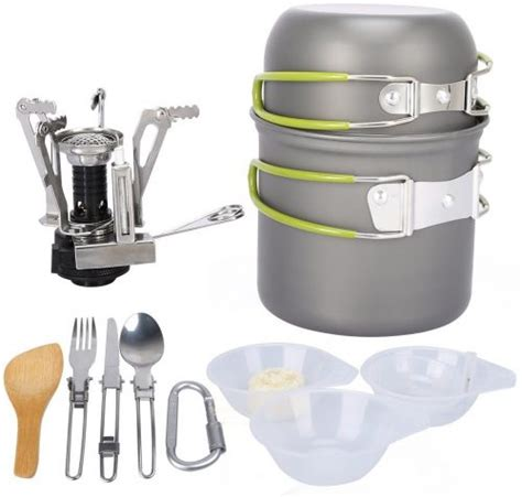 camping cookware cooking outdoor pot sets backpacking pan g4free hiking bowl