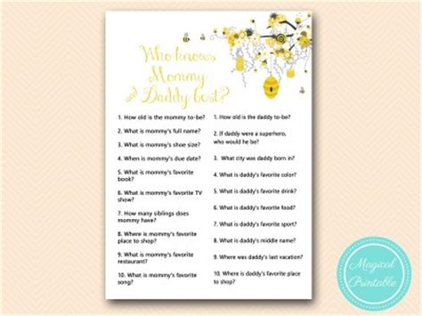 Mommy Or Daddy Baby Shower Game