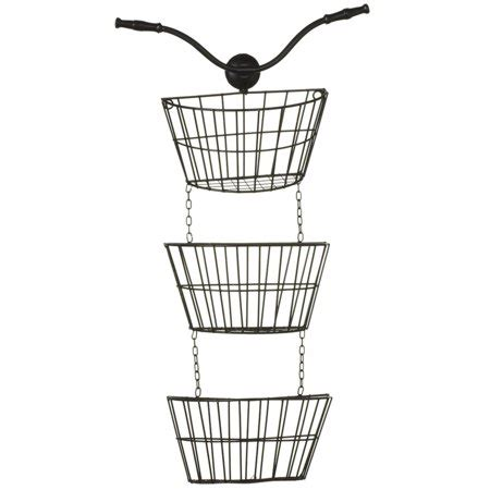 black bicycle themed metal decorative  tier hanging