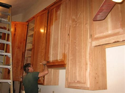 how to refinish wood cabinets wood 20130511
