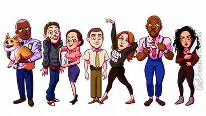 Brooklyn Cartoon Nine Fanart Dresdoodles Gina Linetti