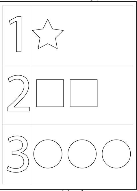 year  worksheets printable numbers preschool