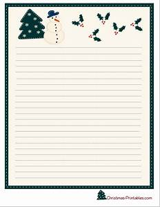 christmas letter paper free printable christmas letter With christmas paper to write letters on