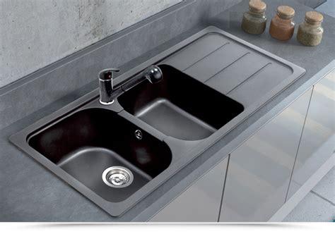 lavello cucina nero lavello cucina apell pietra plus granito nero 116x50cm due