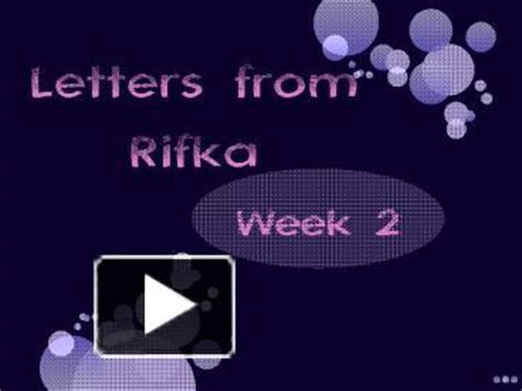 letters from rifka ppt letters from rifka powerpoint presentation free to