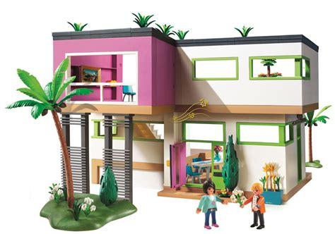 playmobil modern luxury mansion play set toys