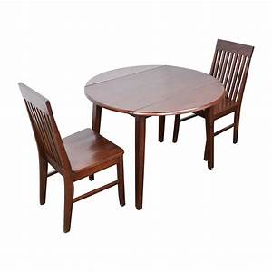 Set Table Rond : 60 off round dining table with folding sides and chairs tables ~ Teatrodelosmanantiales.com Idées de Décoration