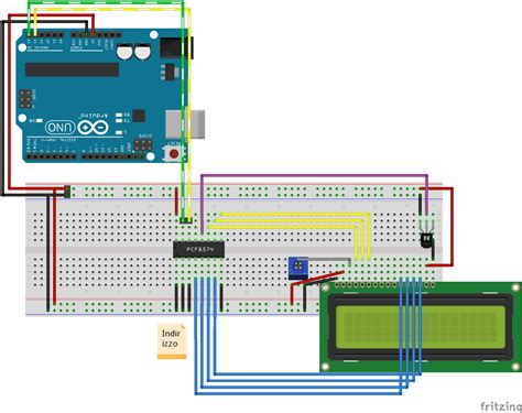 Lcd Wiring Diagram by Arduino Character Lcd I2c 2 Wire Connection With