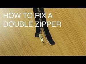 Two Way Fix : how to fix repair a double slider zipper two way separating youtube ucan zippers the boy ~ Orissabook.com Haus und Dekorationen