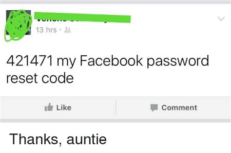 Facebook Meme Codes - 3hrs 421471 my facebook password reset code like comment facebook meme on sizzle