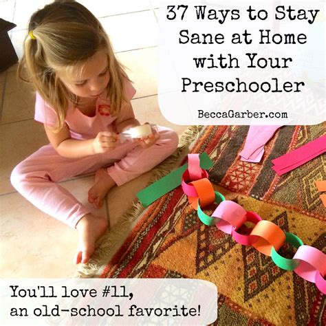 37 ways to stay sane at home with your preschooler you ll 785 | 37 ways stay sane home preschool activities 1024x1024
