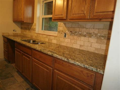 Kitchen Countertops With Backsplash by Backsplash With Gold Granite Countertop Here Are Santa
