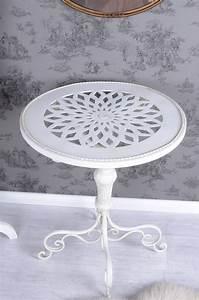 Beistelltisch Weiß Vintage : beistelltisch shabby chic tisch weiss eisentisch rund ~ A.2002-acura-tl-radio.info Haus und Dekorationen