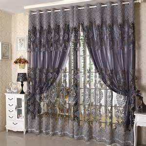 High quality luxurious European-style living room balcony bedroom window fabric drapes finished carved sand screens