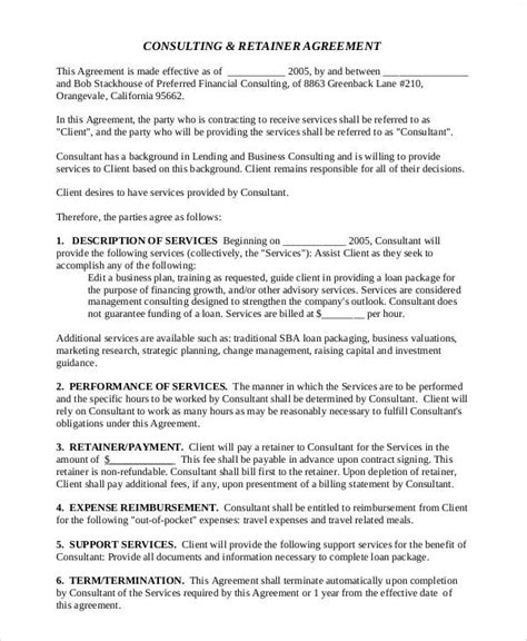 consulting agreement contract samples word