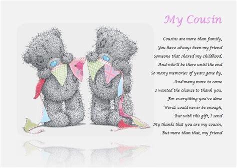 cousin personalised poem laminated gift ebay