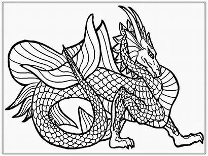 Dragon Coloring Pages Adult Adults Line