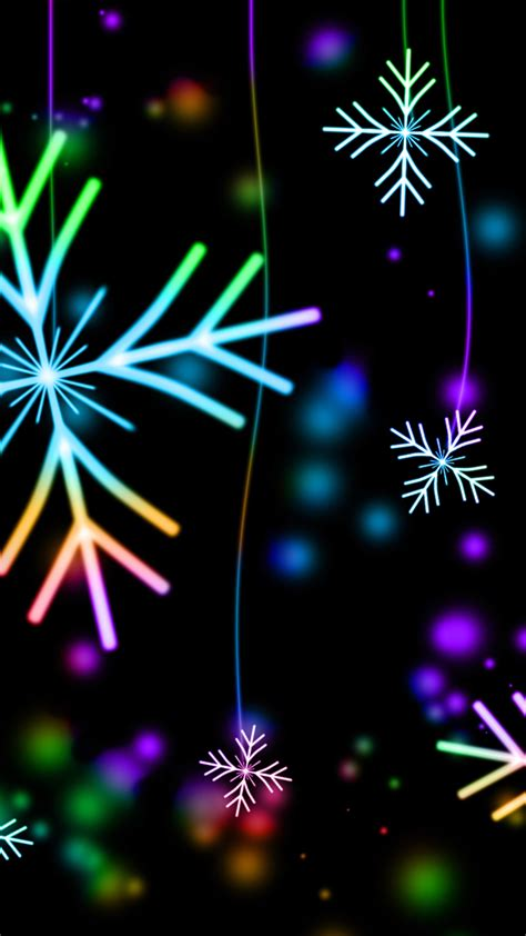 4k Neon Wallpaper Mobile by Ultra Hd Neon Snowflakes Wallpaper For Your Mobile Phone