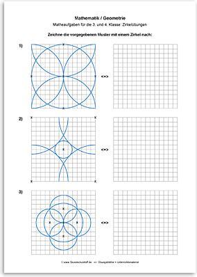 geometrie zirkeluebungen  schule