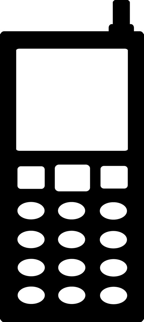 wireless phone cell phone symbol clipart