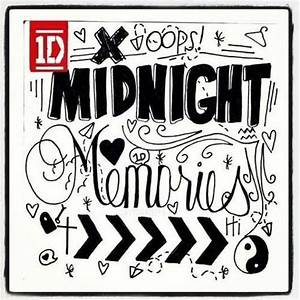 One Direction Lyric Drawings Midnight Memories | www ...