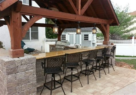 Backyard Bar Designs by Outdoor Kitchens Collegeville Blue Bell Chester