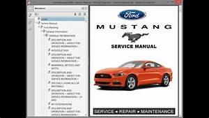 Ford Mustang Mk6 - Service Manual    Repair Manual