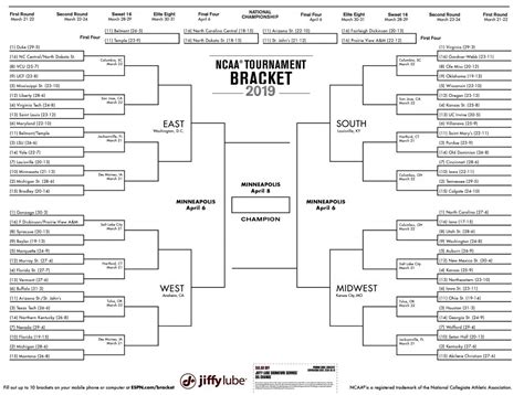 printable ncaa mens  bracket   march madness