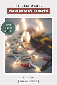 How To Shorten String Christmas Lights