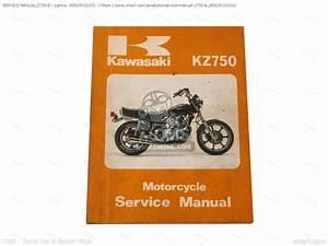 99924102102  Service Manual Z750-e Kawasaki
