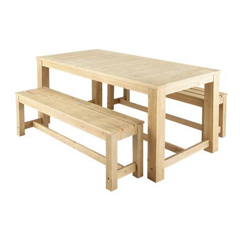 chambre vintage fille table 2 bancs de jardin en bois l 180 cm brehat