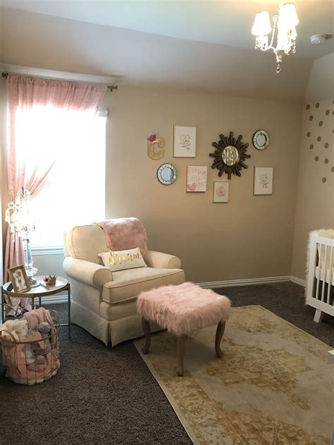 charlottes white gold blush pink nursery project nursery