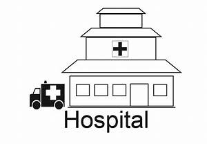 Hospital Building Coloring Pages | Murderthestout