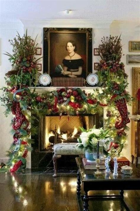christmas mantel images christmas fireplace mantel christmas pinterest