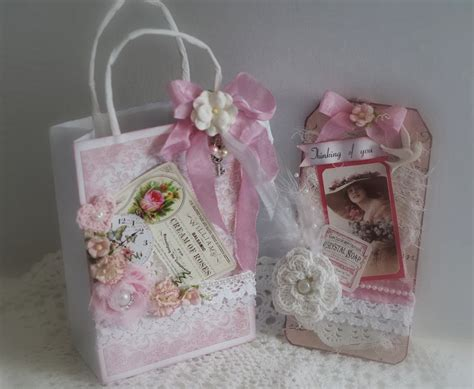 shabby chic gift bags mad about scrappin shabby chic gift bag