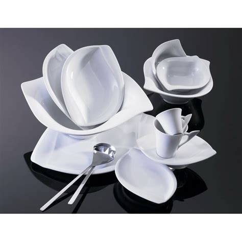 service de table design set assiettes design table de lit