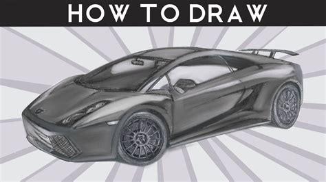 How To Draw A Lamborghini Gallardo Superleggera