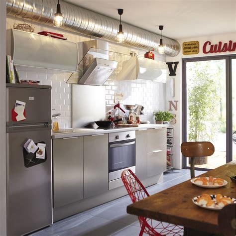 aluminium de cuisine meuble de cuisine décor aluminium delinia stil leroy merlin