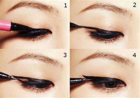 how to cat eye eyeliner msromanticpunch or two different eyeliner look
