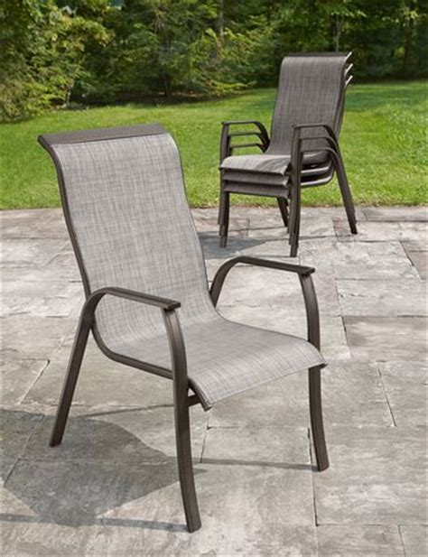 stacking sling chairs walmart hometrends sling stacking chair walmart ca
