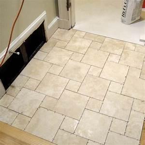 Small bathroom tile floor ideas photos for Floor tile patterns for small bathroom