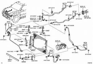 2004 Toyota 4runner Pipe  Cooler Refrigerant Suction  C
