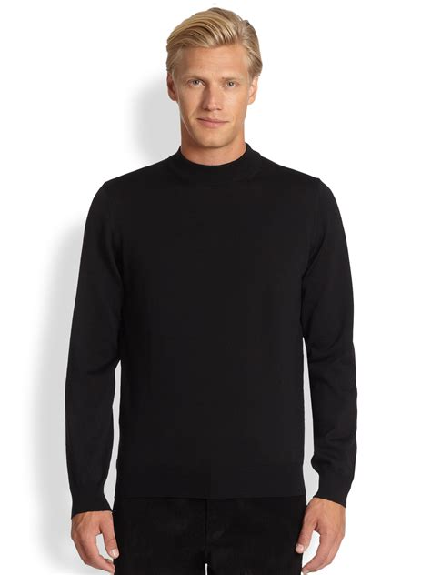 mens wool turtleneck sweater saks fifth avenue black label wool mock turtleneck sweater
