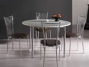 Table Ronde Cuisine : table de cuisine ronde comment la choisir ~ Teatrodelosmanantiales.com Idées de Décoration
