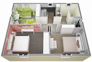 plan extension maison 40m2 cout maison 40m2 1 plan maison With plan extension maison 40m2