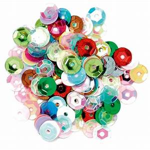 Craft Factory Multi Coloured Cup Sequins 5Mm 5G Hobbycraft