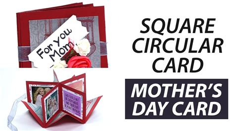 handmade mothers day square circular greeting card step