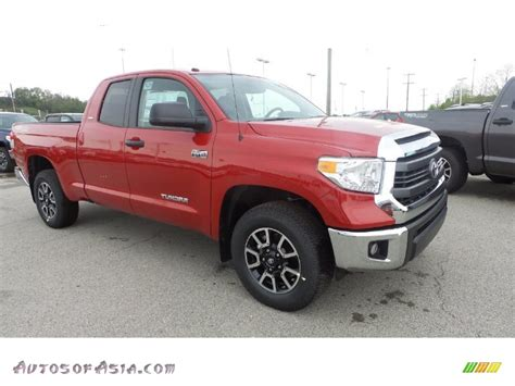 toyota tundra sr double cab   barcelona red